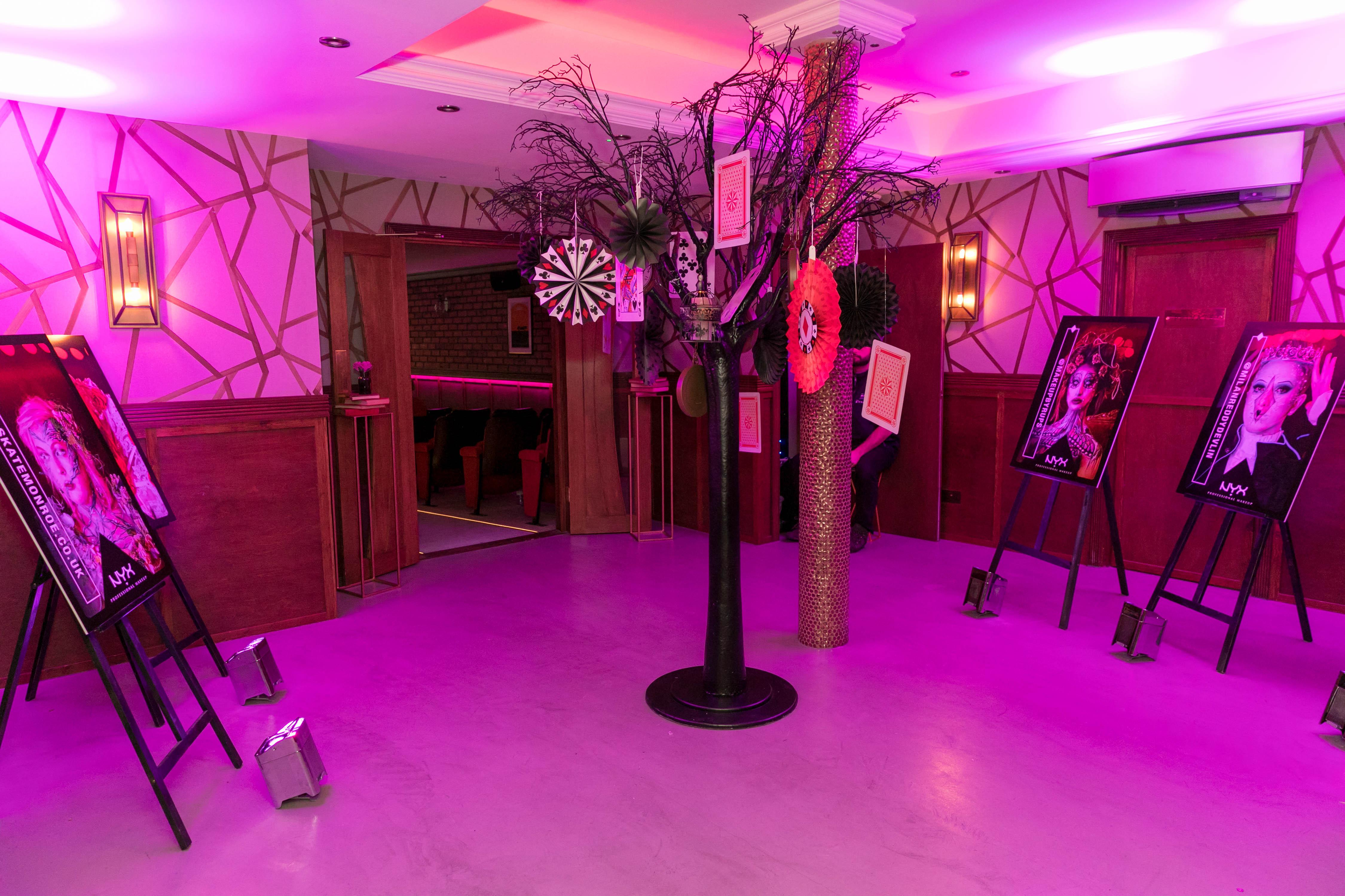 Product launch venue design