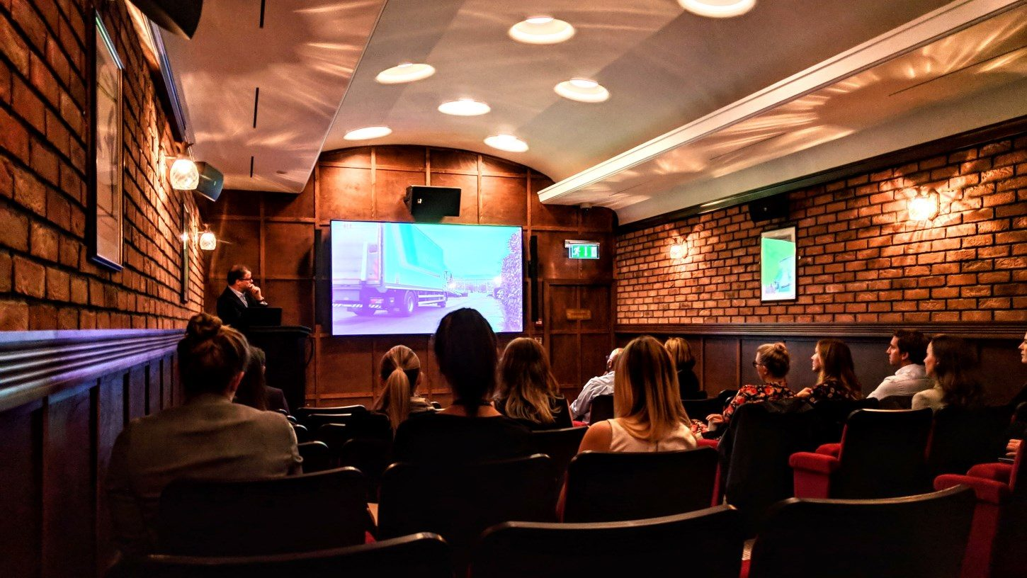 Private cinema screening in London