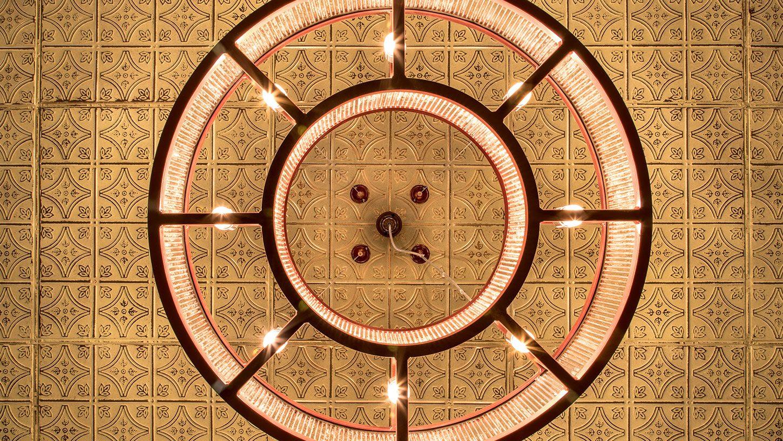 Eyecatching ceiling lighting