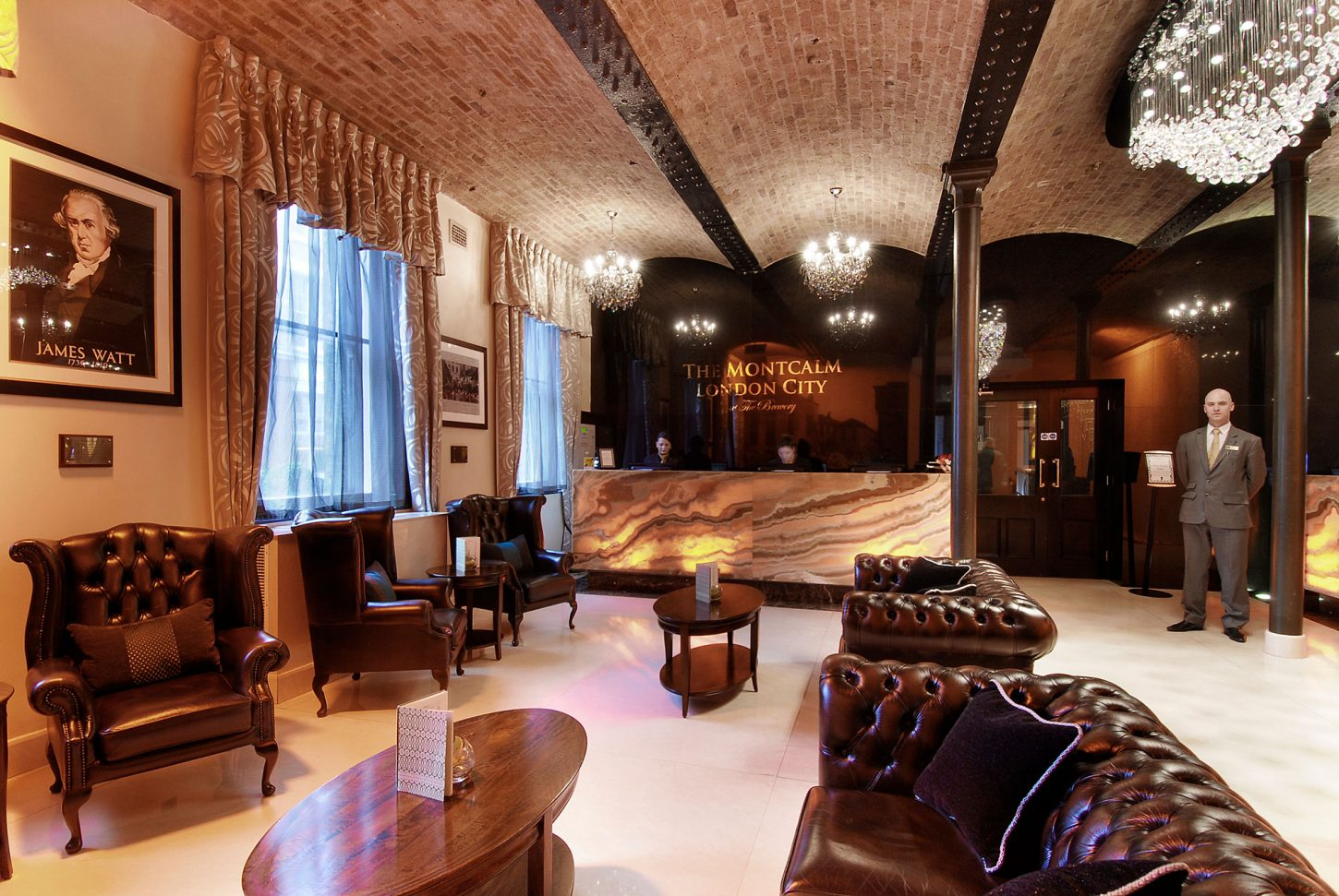 A plush room - Montcalm at The Brewery