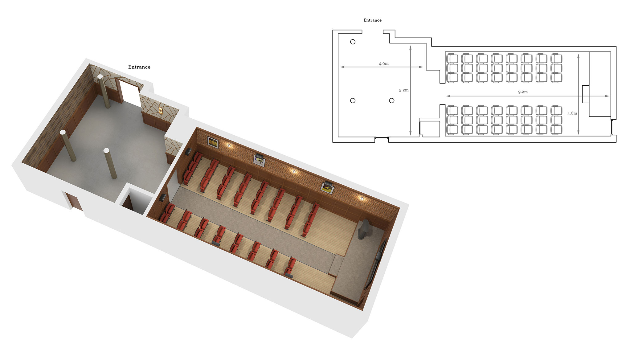 The Cutting Room floor plan