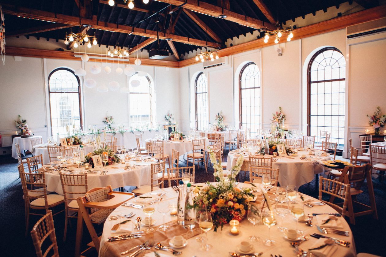 An intimate wedding reception layout
