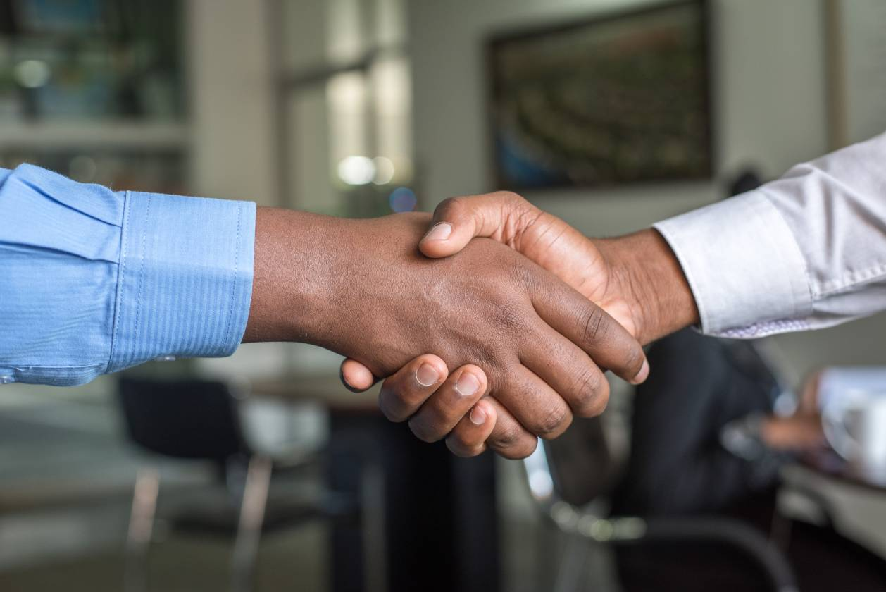 Handshake at business networking event