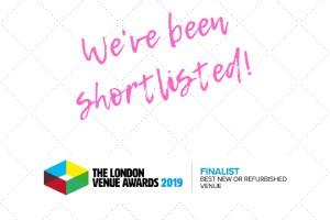 The venue awards 2020 London nomination